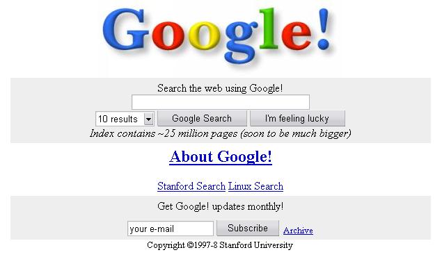 21 lat wyszukiwarki Google!